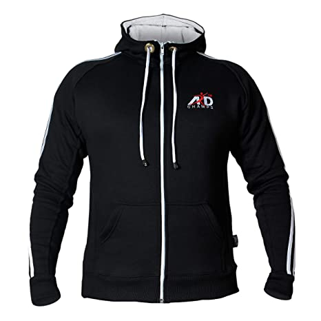 f24c7ce8ddc1a ARD-Champs Fleece Full Zip Hoodie Sweatshirt Top MMA Running Jogging S to  3XL