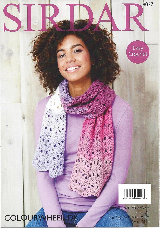 Sirdar Crochet Pattern - COLOURWHEEL DK , Triangle or Zig Zag Scarf ...