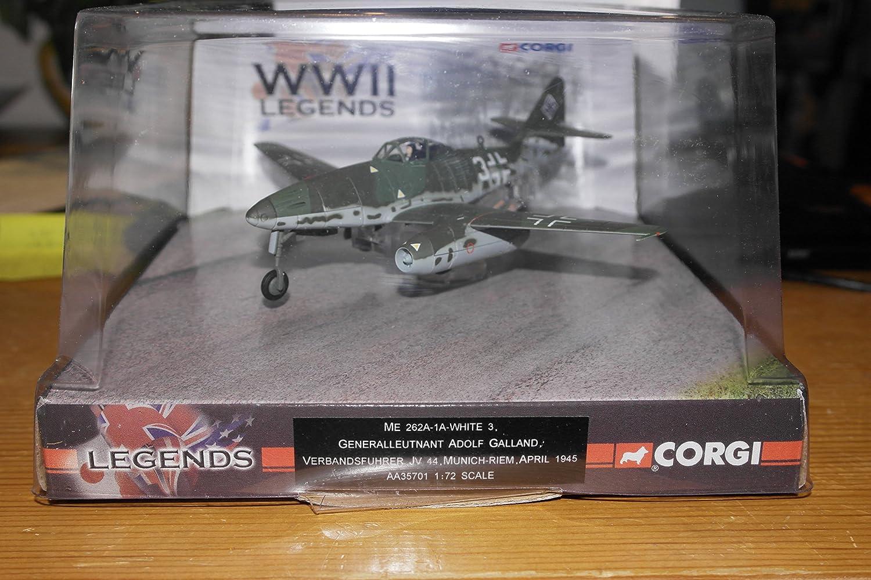Corgi 1/72 Scale diecast AA35701 M2 262A-1A White 3 Adolf Galland Munich 1945 B072HJ9275