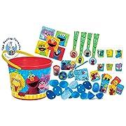 UPD Sesame Street Elmo & Friends Kids Toy-Filled Easter Eggs & Sesame Street Toddler Sized Easter Basket Loot Bucket!