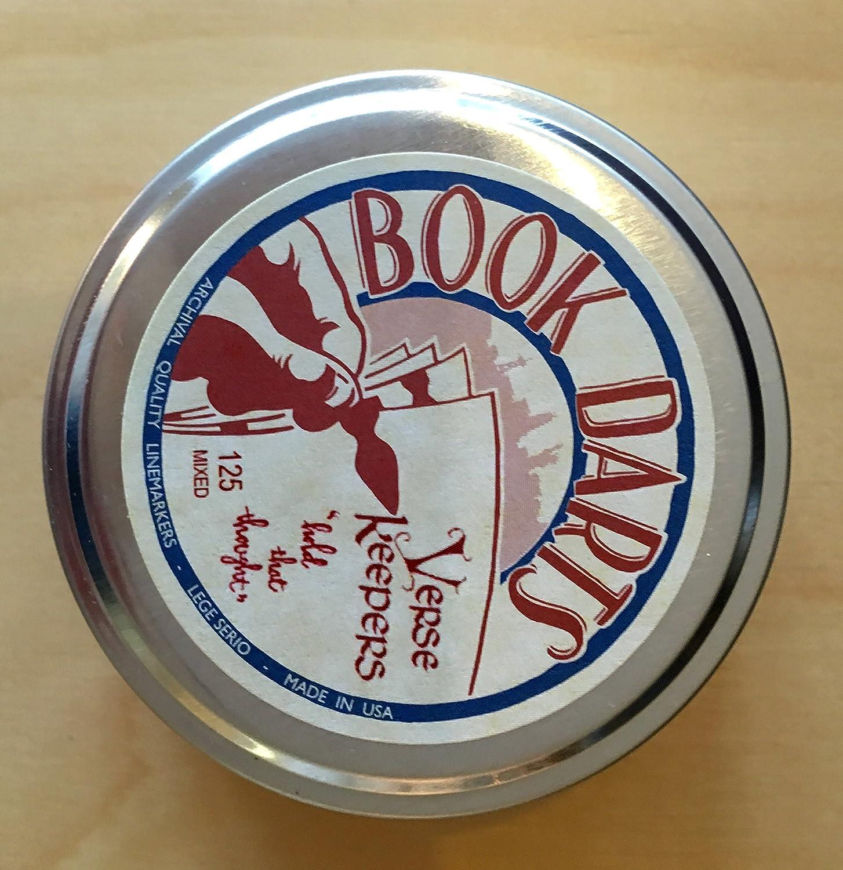 Verse Keeper Book Darts Tin of 125 Mixed Metals Line Marker Bookmarks
