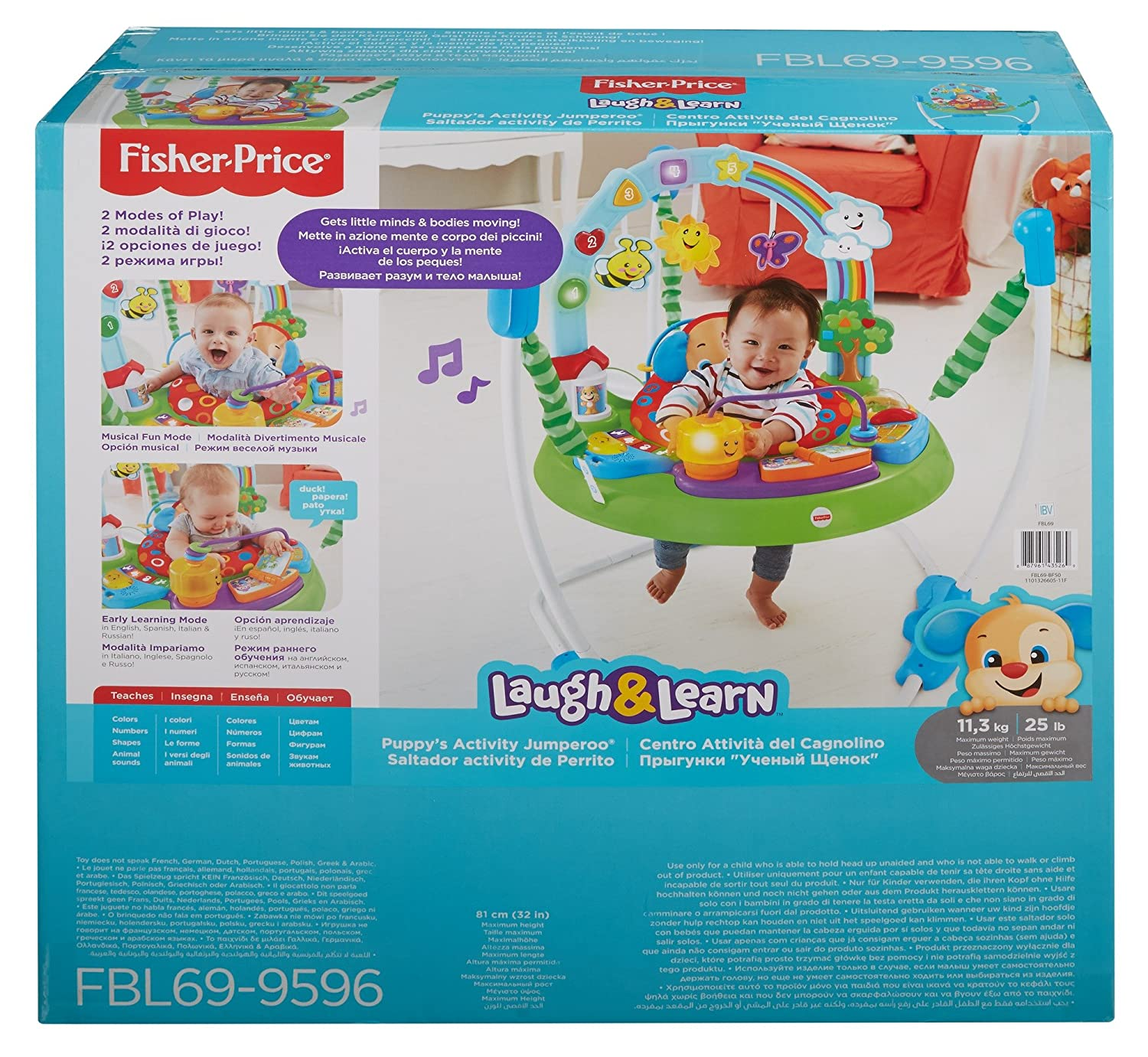 66262949dc99 Fisher-Price Laugh and Learn Puppy s Activity Jumperoo Mattel UK ...