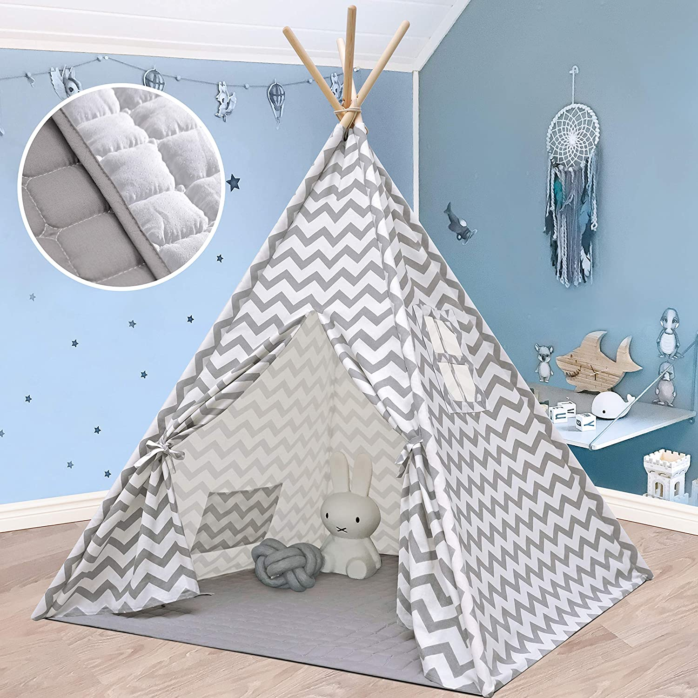 Children/'s play tent teepee indoor tent Indian tent with floor mat K88