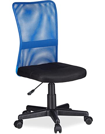 Relaxdays Silla Oficina Ergonómica Regulable, 102 x 55 x 55 cm