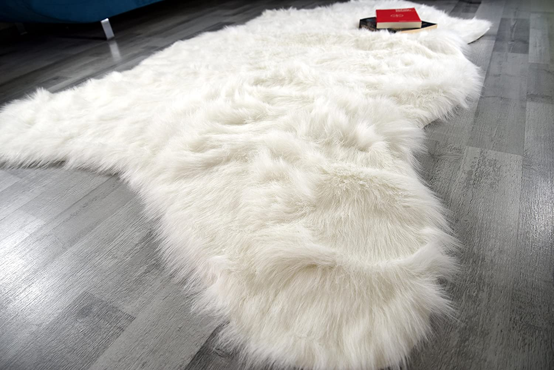 Flokati-Stil Kunstfell Lammfell Hochflor Shaggy Teppich Teppich Teppich Ameiny Eisbär - Kuschelweich in bunten Farben (140 cm x 200 cm, Weiß Natur) B01NAOB3NF Teppiche ccc9a4