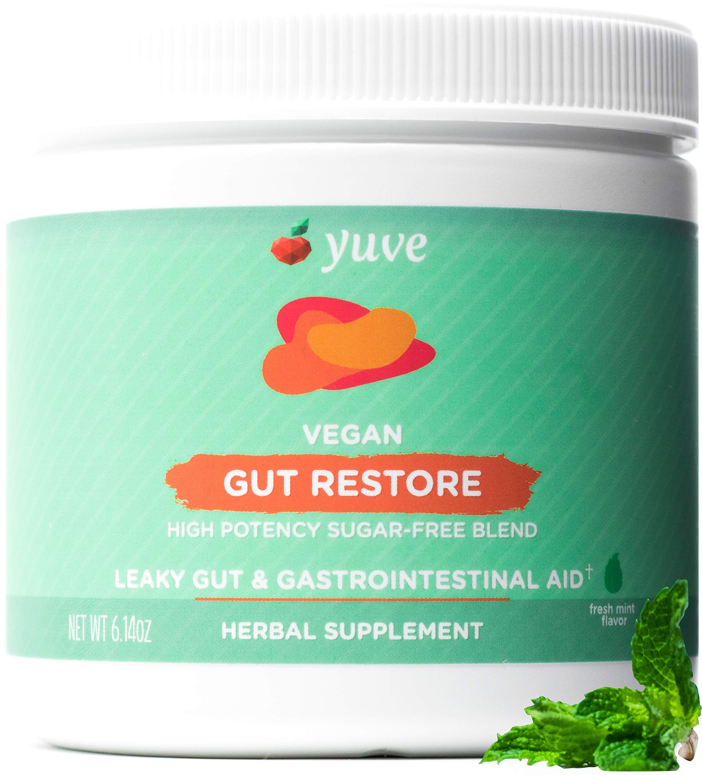 Yuve Gut Restore for Leaky Gut Repair Supplement - Vegan & Non-GMO - Bloating, Heartburn, Constipation, Gas, SIBO Relief - Contains L-Glutamine, Licorice, Aloe - Pharmaceutical Grade - 30 Servings by Yuve
