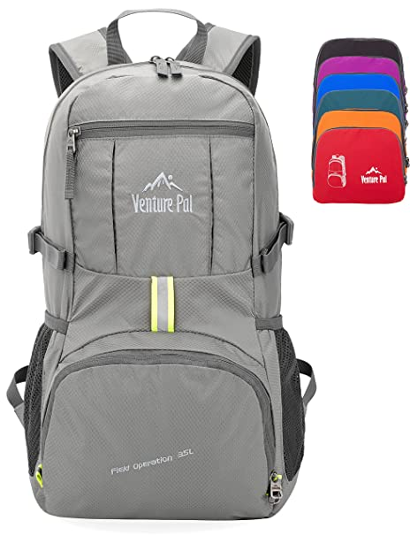 14dcb7af00 Venture Pal 35L Travel Backpack - Packable Durable Lightweight Hiking  Backpack Daypack (Grey)