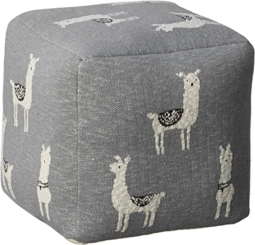 Creative Co-op Cotton Knit Pouf