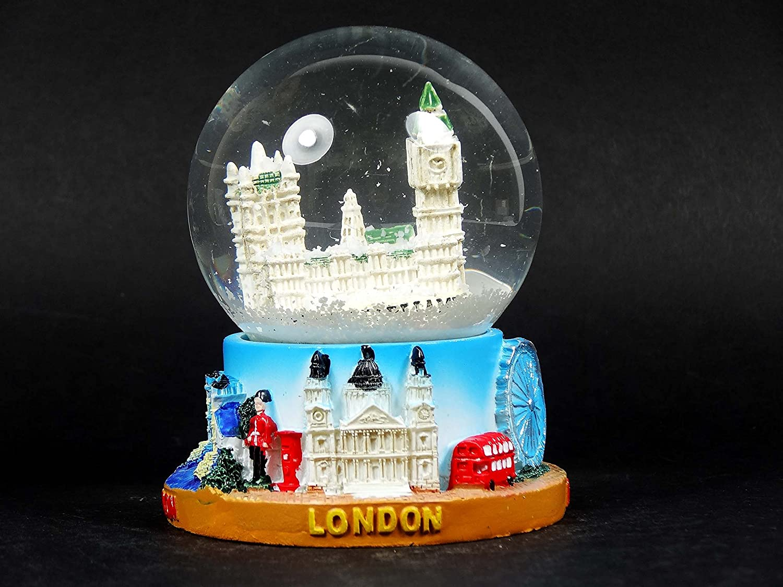 Amazon.com: Snow Globe (Medium)- Houses of Parliament, Detailing Famous London Landmark Big Ben.: Home & Kitchen