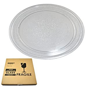 HQRP 9-5/8 inch Glass Turntable Tray for GE WB49X10134 JES735BJ01 JES735BJ02 JES735WJ01 JES735WJ02 JES738WJ01 JES738WJ02 JES739WJ01 JES0736SM1SS Microwave Oven Cooking Plate 245mm + HQRP Coaster