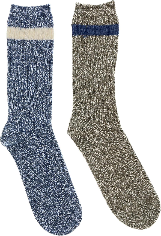 Woolrich Men's Merino Blend Thick Socks (2Pr)