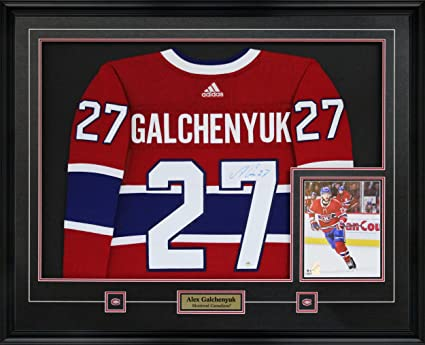 buy online 90203 37bc6 Frameworth Alex Galchenyuk Signed Jersey Framed Pro Adidas ...