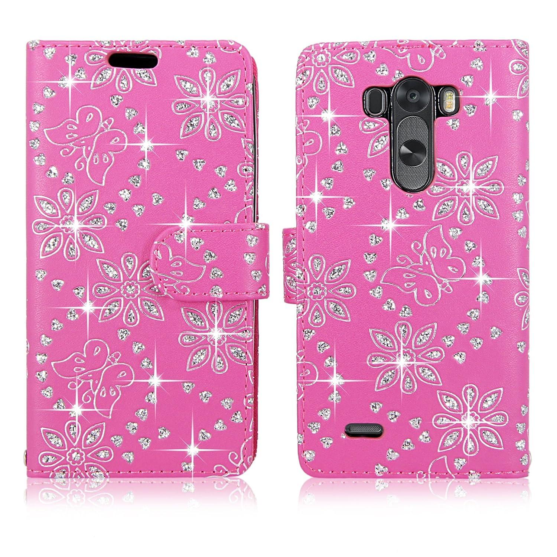 LG Stylo Case Cellularvilla Pink glitter Image 2