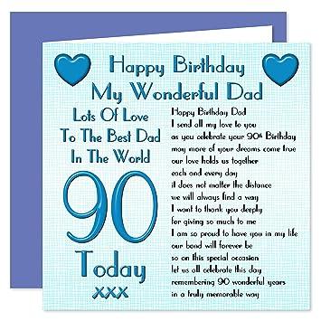 Dad 90th Happy Birthday Card