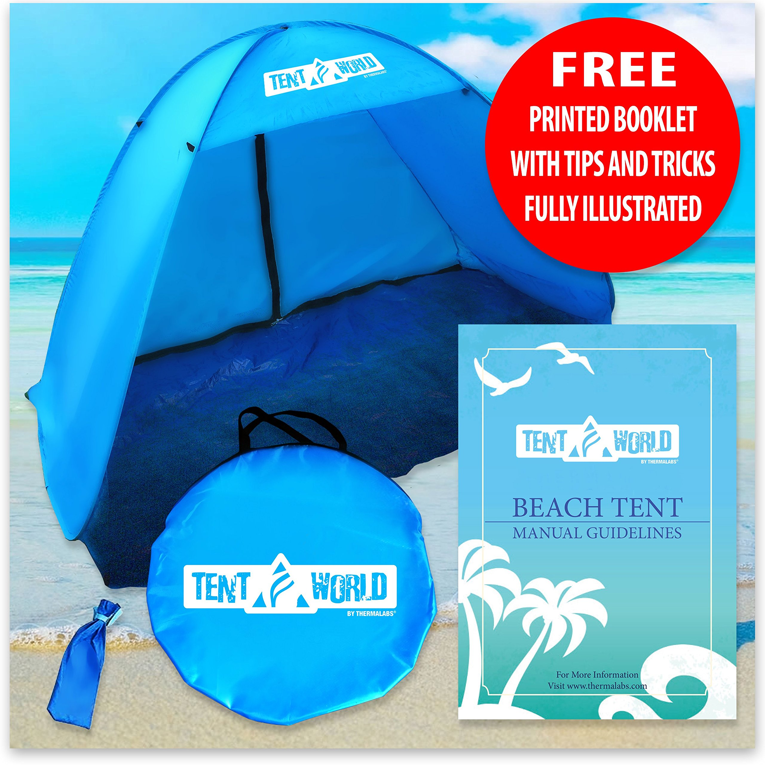 Tent World by Thermalabs Instant Pop Up Sports Beach Tent. The Worldu0027s BestBeach Shelter Folding in ONE MINUTE VIDEO will be emailed to you once the product ...  sc 1 st  Chickadee Solutions : best family beach tent - memphite.com