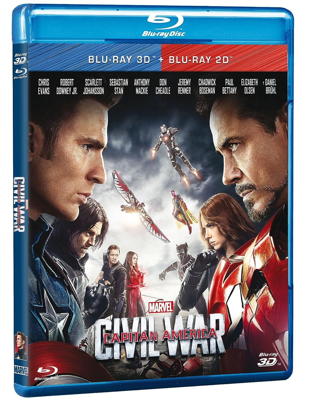 Amazon com: Captain America Civil War (Blu-ray 3D + Blu-ray
