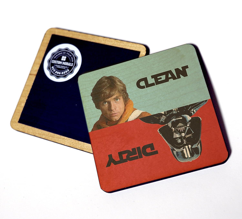 Star Wars Dishwasher Clean / Dirty Wooden Magnet Notifier Sign