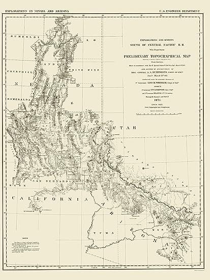 Amazon.com: Topographical Map - Nevada, Arizona Nevada ... on map of arizona counties, nevada road map arizona, map of southwestern united states, road map utah arizona, detailed map of arizona, cooler cities in arizona, map road mileage nevada us95with, map from washington to arizona, map of california, border of utah and arizona, streetmap lake havasu city arizona, map california-nevada arizona, show me a map of arizona, map of oregon idaho and utah, map of arizona cities, map to nevada, map of grand canyon and surrounding cities, map of arizona state, map of wyoming,