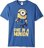 Despicable Me Men's Minions Stuart One in A Million Funny Graphic Tee