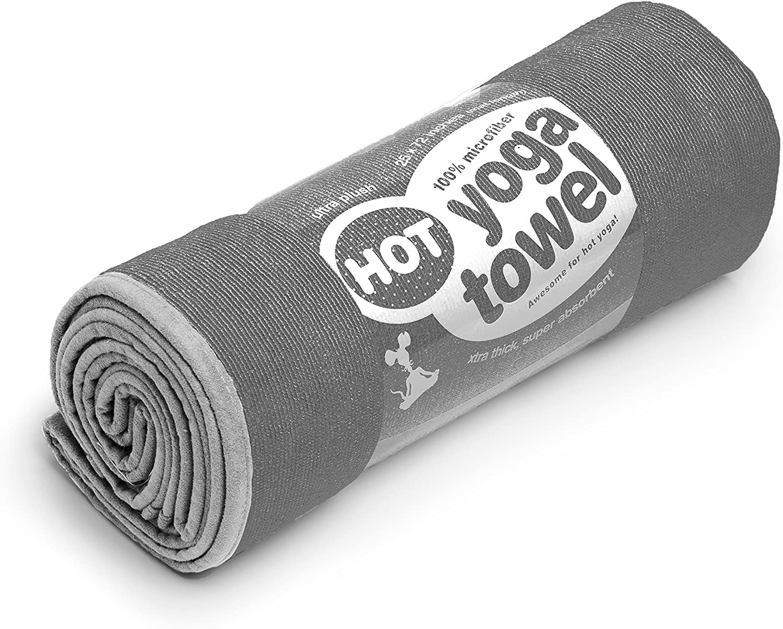 Non Slip Skidless Beautiful Microfiber Towel Sized for Yoga Mats Ultra Absorbent Hot Yoga Towel Lightweight