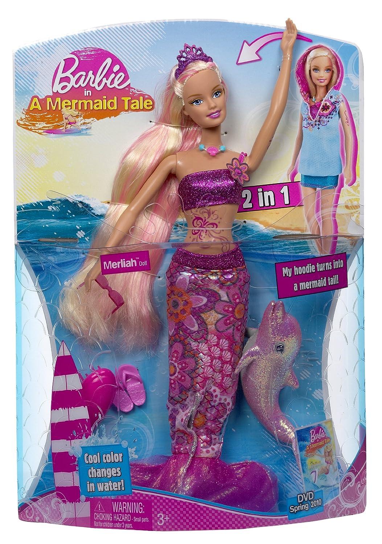 Uncategorized Mermaid Barbie Videos amazon com barbie in a mermaid tale merliah doll toys games
