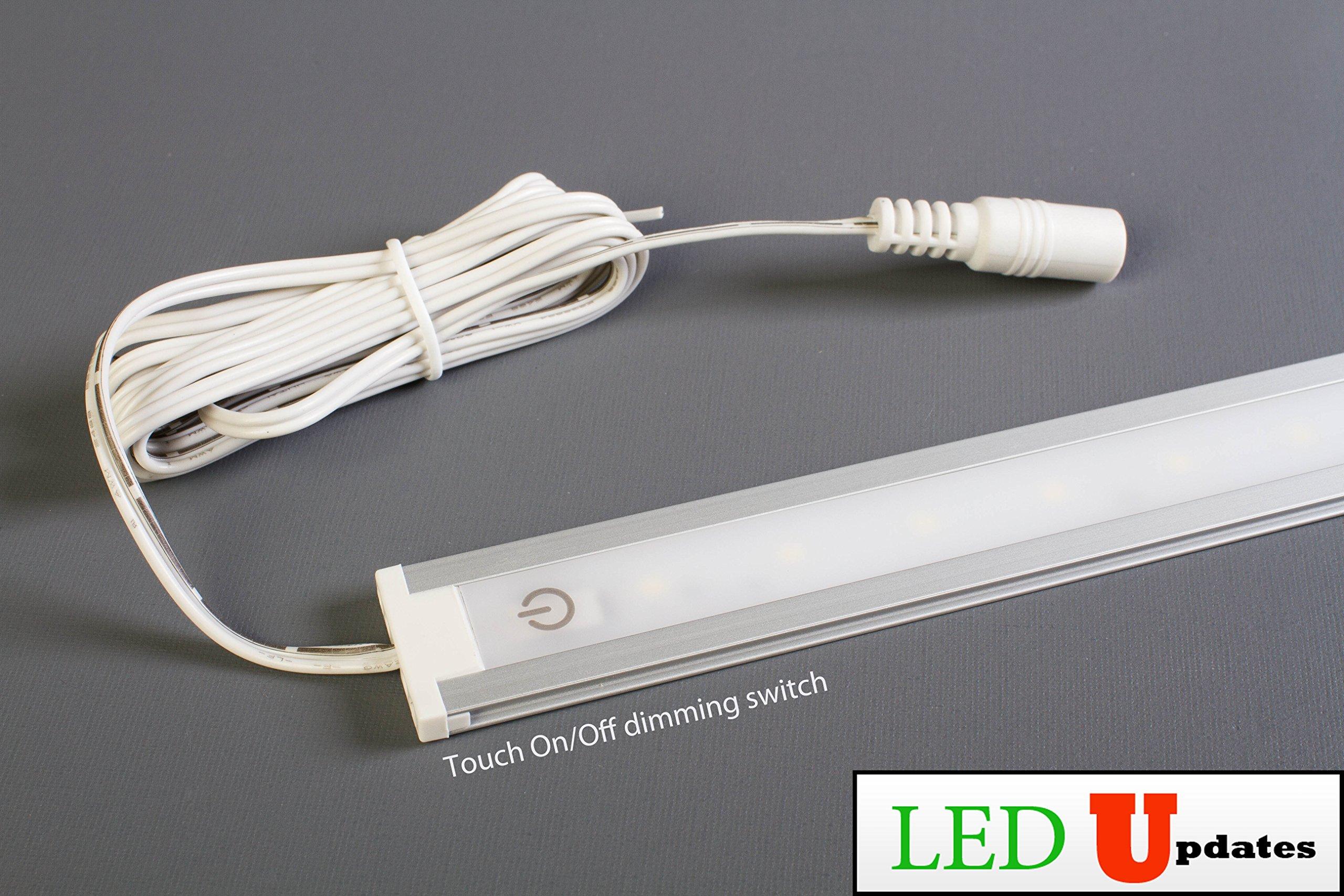 LEDupdates 24 inches Under Cabinet LED light for work shop & closet with UL Power adapter by LEDUPDATES (Image #2)