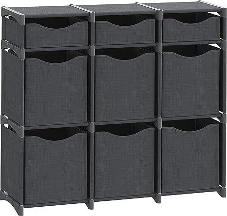 Beige Playroom DIY Closet Organizer Bins Office Dorm Set of Storage Cubes Included Cube Organizers and Storage Shelves Unit Livingroom Closet Organizer for Bedroom 9 Cube Organizer