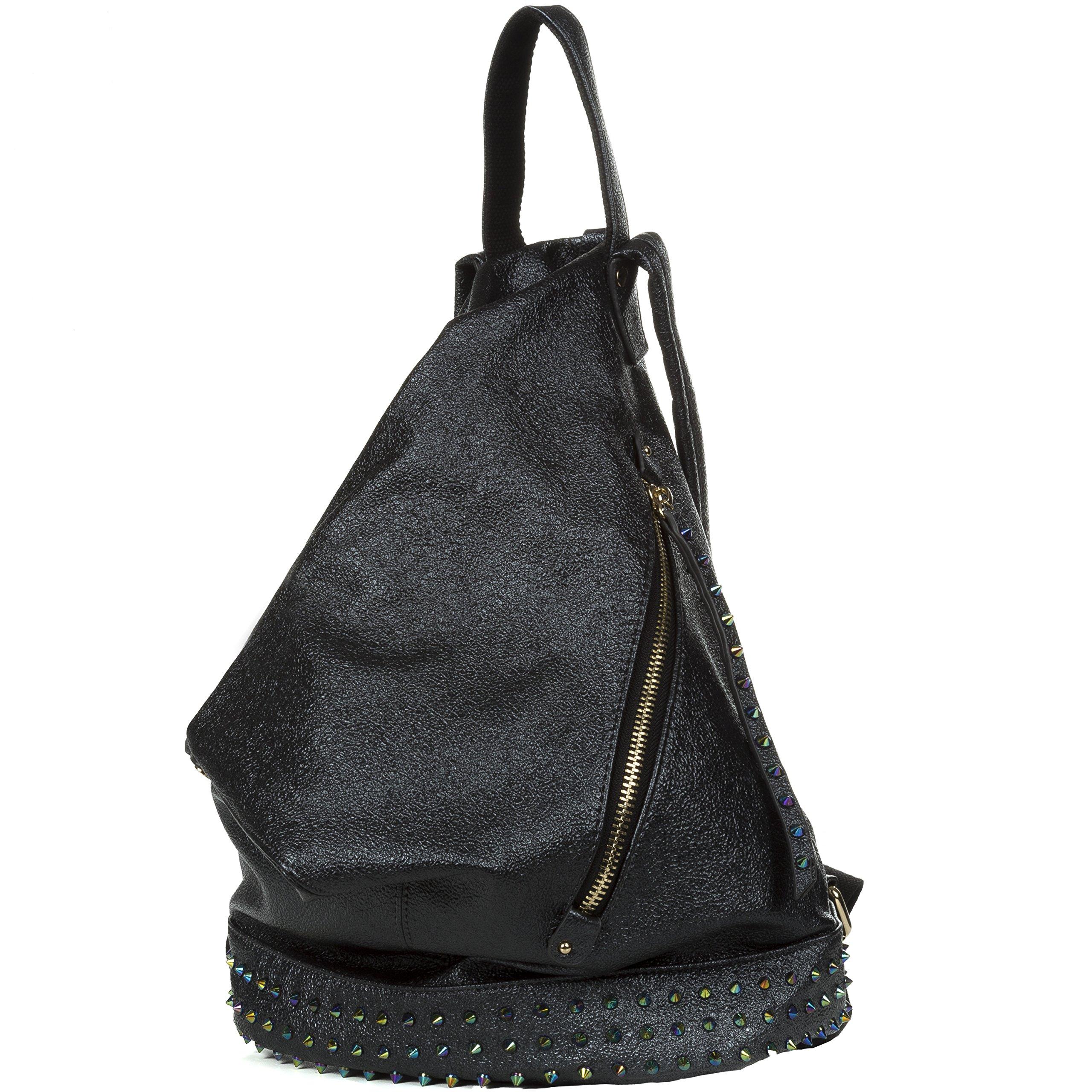 Handbag Republic Fashion Backpack Vegan Leather Travel Bag Easy Carry For Women by Handbag Republic (Image #2)