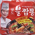 Paldo Bul Jjamppong Noodle Soup, Spicy Seafood Flavor, 4.90 Ounce (Pack of 4)