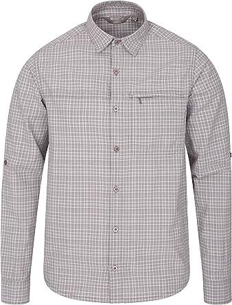 Mountain Warehouse Adventure II Camisa Mens - 100% Camisa del Verano del algodón, Tapa Ocasional Ligera, Bolsillo relampagado, Breathable: Amazon.es: Ropa y accesorios