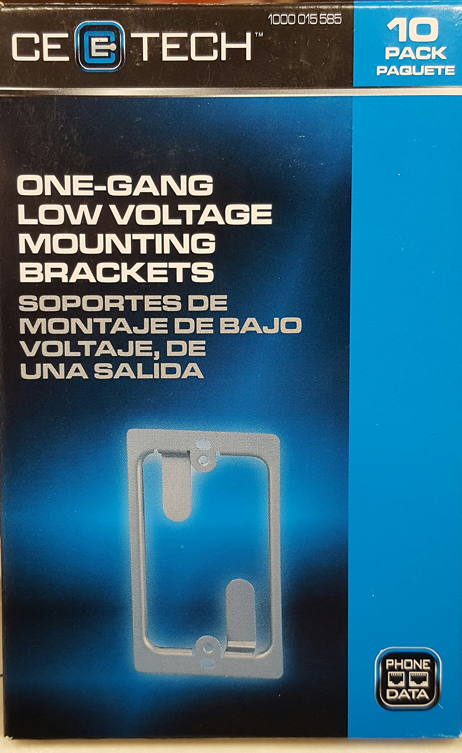 CE TECH One Gang Low Voltage Mounting Bracket - 1 Pack (10 Count)