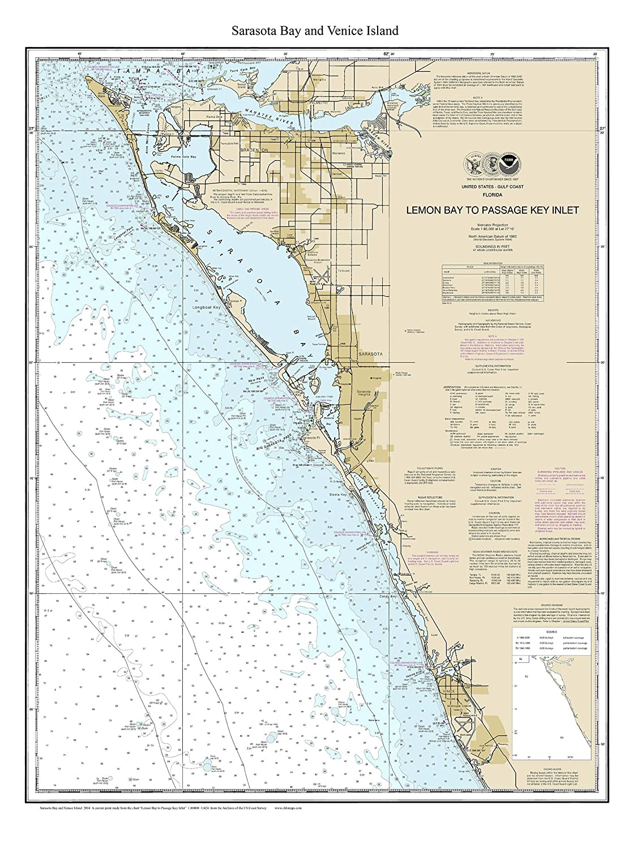 Amazon Com Sarasota Bay Area 2014 Nautical Map Florida Venice