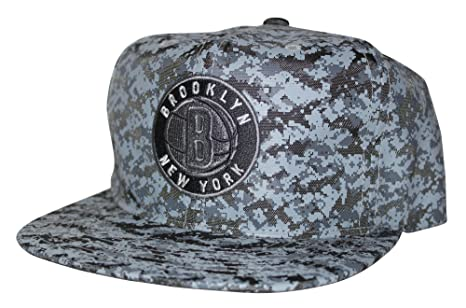 7012a7f157cb36 Amazon.com   Mitchell   Ness NBA Ballistic Nylon Camo Snapback Hat ...