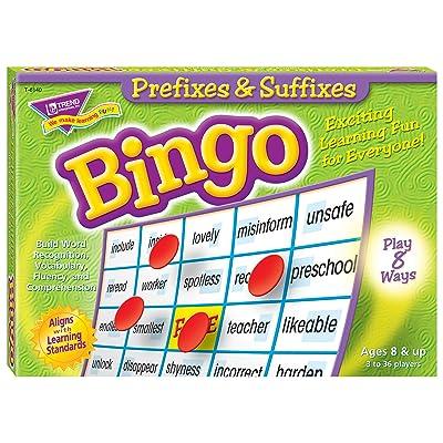 Trend Enterprises Inc. Prefixes & Suffixes Bingo Game: Toys & Games