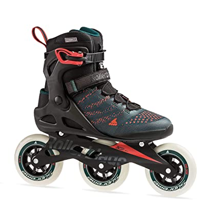 Rollerblade Macroblade 110 3WD Mens Adult Fitness Inline Skate, Teal Green and Orange Burst, Performance Inline Skates : Sports & Outdoors