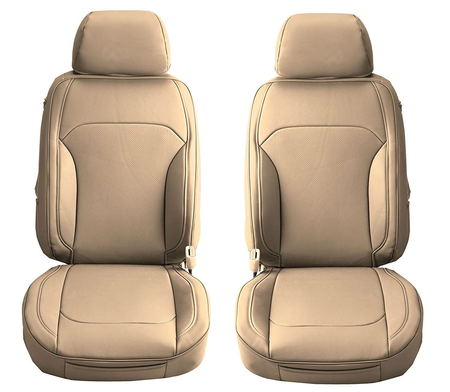 Aegis cover SPVCTC03 Sand Semi Custom PVC Leather Seat Cover A Pair for Toyota Camry Front Seats 1 Pack