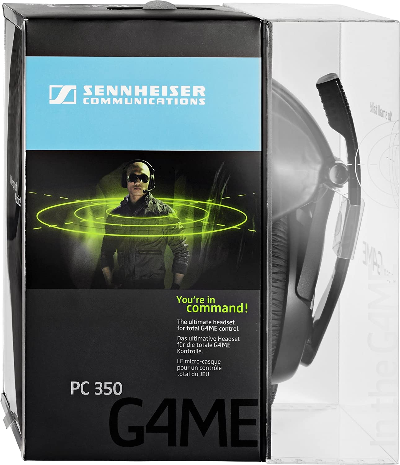 Sennheiser Pc 350 Collapsible Gaming Headset With Vol Load Cell Amplifier Ldu 691 Specifications Control Microphone Mute Electronics