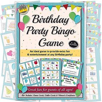BIRTHDAY PARTY BINGO GAME