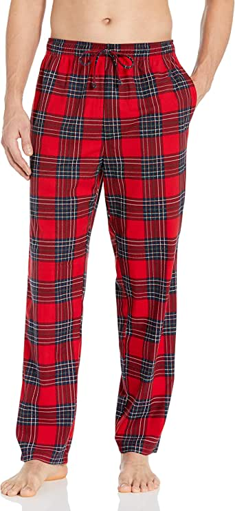 Nautica Men's Cozy Fleece Plaid Pajama Pant