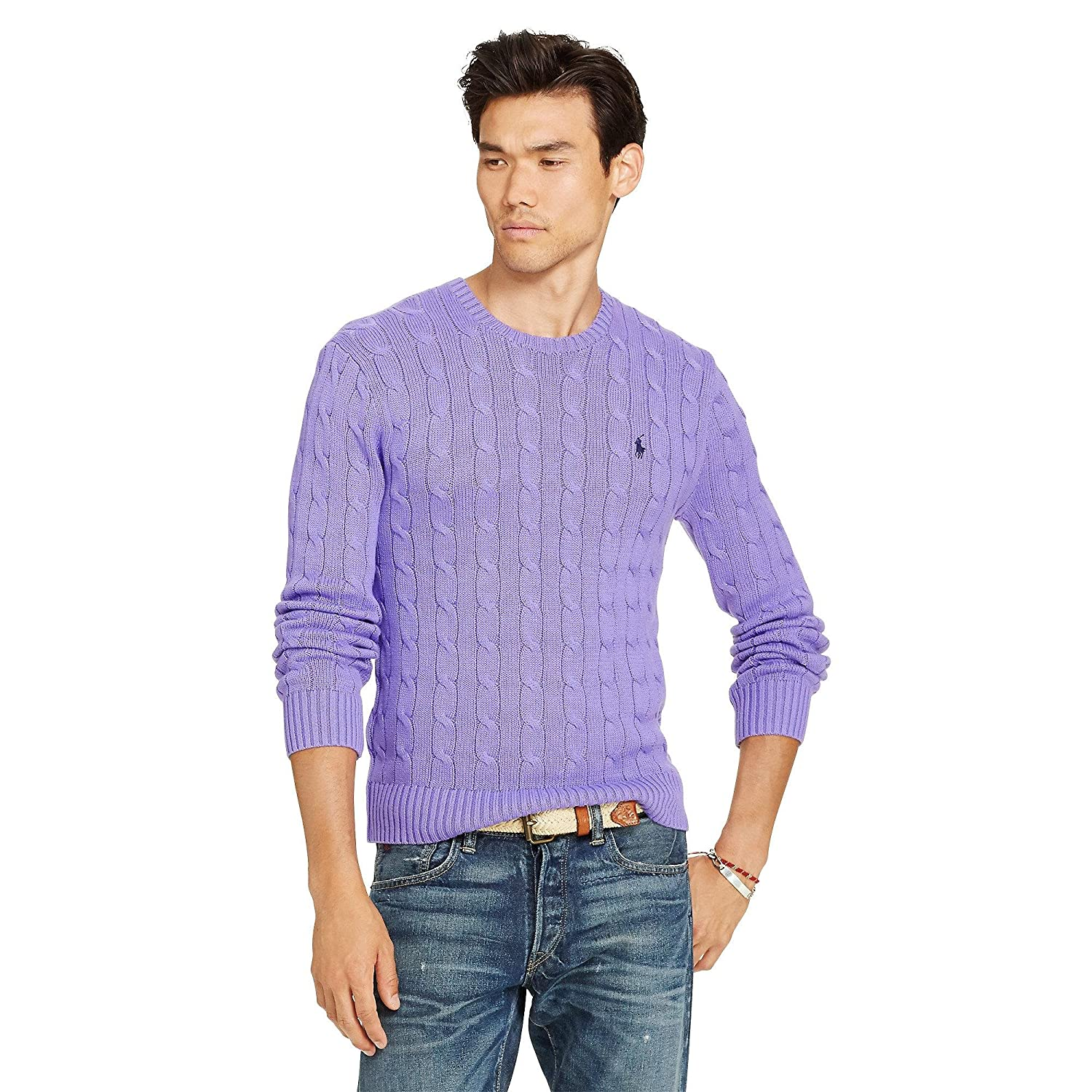 9c4302024ec Polo Ralph Lauren Men s Pony Cable Knit Crewneck Sweater