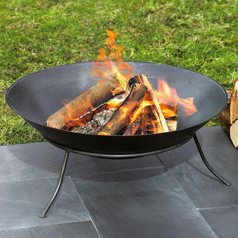 Feuerschale aus Eisen, 60 cm Ø, schwarz: Amazon.de: Garten