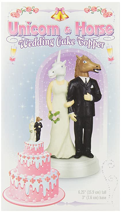 Amazon.com: Accoutrements Unicorn and Horse Wedding Cake Topper ...