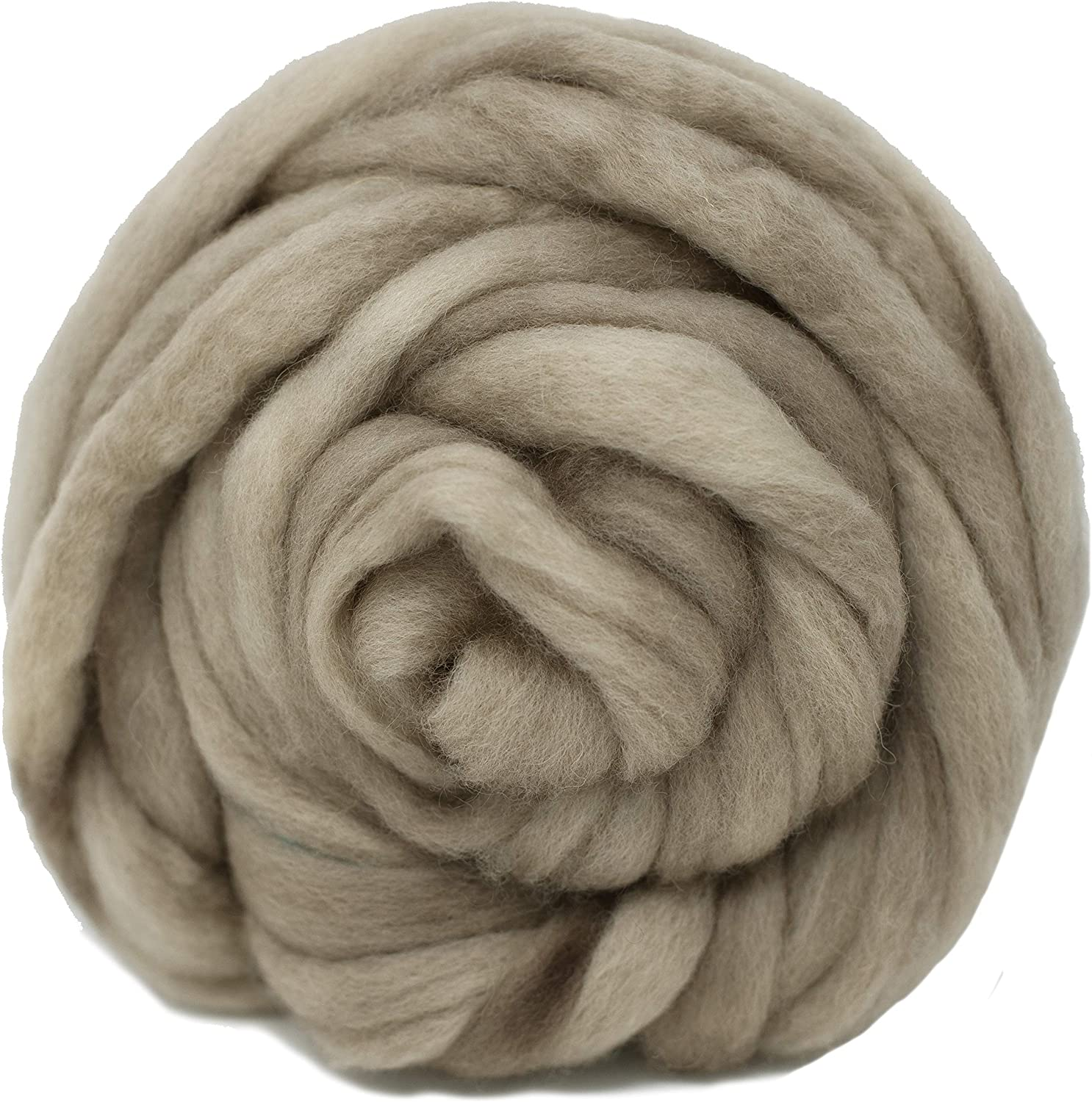 Wool Roving Natural Natural Craft Fiber Ideal for Felting Weaving Wall Hangings and Embellishments Super Soft BFL Combed Top Pre-Drafted for Easy Hand Spinning 4 Ounce