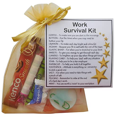 SMILE GIFTS UK Work Survival Kit Gift New Job Secret Santa