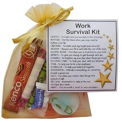 SMILE GIFTS UK Work Survival Kit Gift New Job Secret Santa For Colleague Amazoncouk Kitchen Home