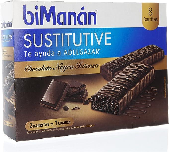Bimanán - Sustitutive Barritas Chocolate Intenso 8 uds ...