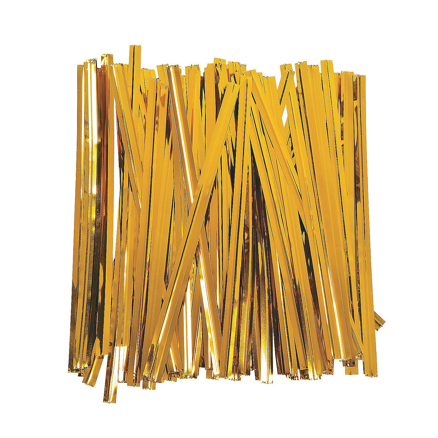 Wrappings Party Supplies Bows /& Ribbons /& Ties Fun Express Gold Metallic Twist Ties for Wedding 600 Pieces Wedding