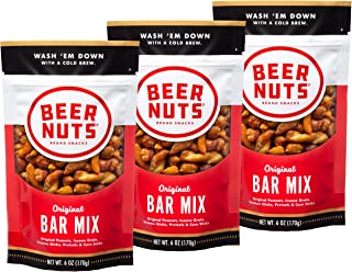 product image for BEER NUTS Original Bar Mix - 6oz Resealable Bag, , Pretzels, Cheese Sticks, Sesame Sticks, Roasted Corn Nuts, and Original Peanuts (3-Pack)