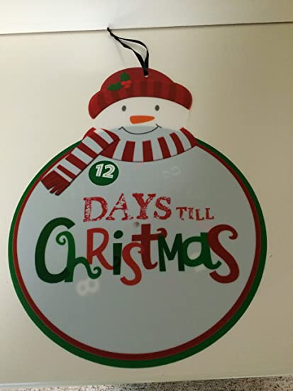 Days Till Christmas Uk.Hallmark 12 Days Till Christmas Countdown Calendar Amazon