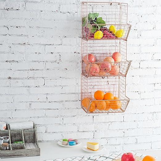 Amazon.com: MyGift montado en pared alambre de cobre metal ...